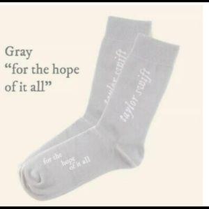 T. Swift folklore lyric socks RARE